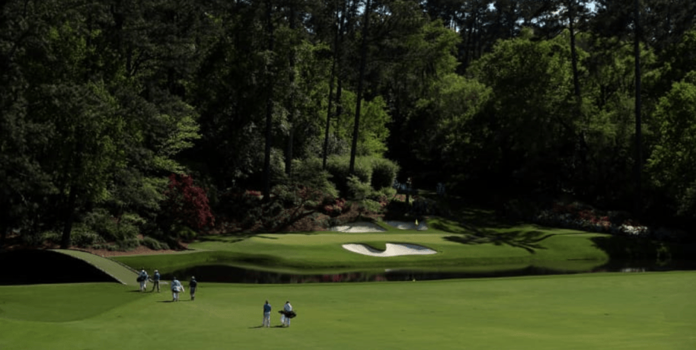 The tee shot on hole number 12 at Augusta National from the scariest things to happen at a golf tournament blog by Mac Sports Travel