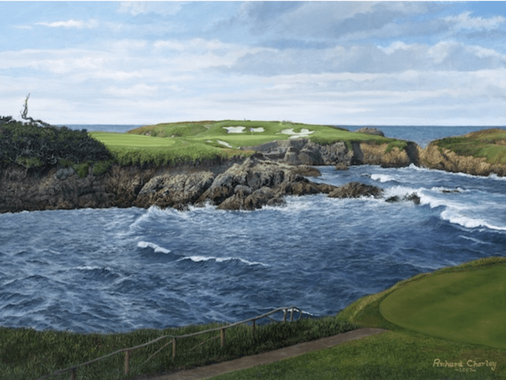Tee shot on 16th hole par-3 at Cypress point from Mac Sports Travel blog on the scariest things to happen in a golf tournament