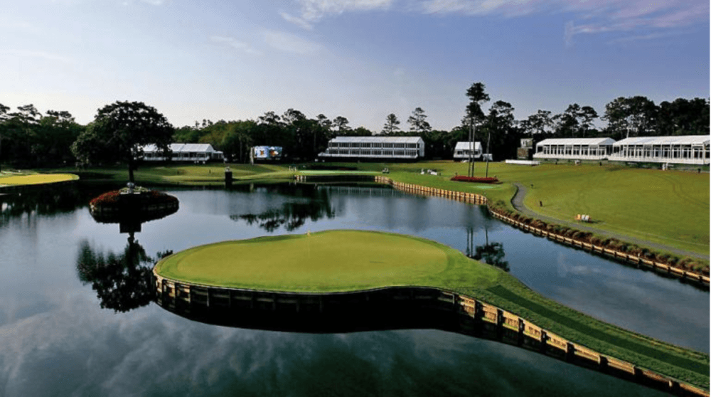 The tee shot on hole 17 at TPC Sawgrass is seen as the scariest thing to happen in a golf tournament from our Mac Sports Travel blog