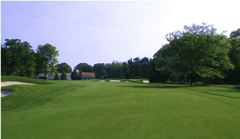 Tee shot on the par-5 13th hole at Bethpage Black from the Scarest things to happen in Golf article by Mac Sports