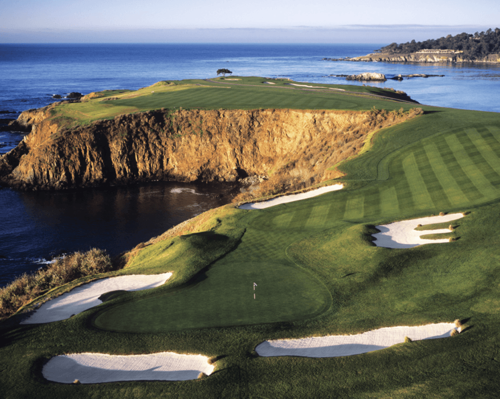 The 2nd shot on the eight hole par-4 at Pebble Beach one of the scariest things to happen in a golf tournament as seen in the article by Mac Sports Travel